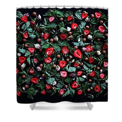 My Real Strawberry Patch Shower Curtain