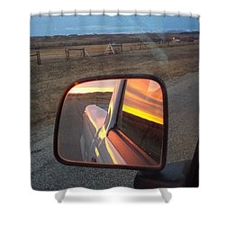 My Rear View Mirror Shower Curtain