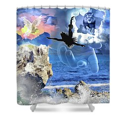 My Savior Shower Curtain by Dolores Develde