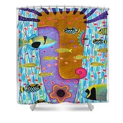 My Self  2 Shower Curtain by Opas Chotiphantawanon