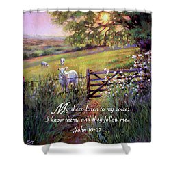 My Sheep Hear My Voice Shower Curtain