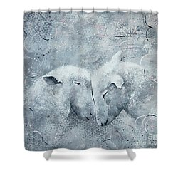 My Sheep Hear My Voice Shower Curtain