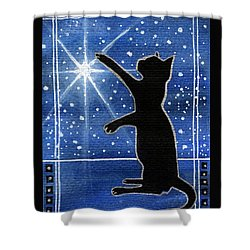 My Shinning Star - Christmas Cat Shower Curtain