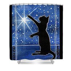 My Shinning Star - Christmas Cat Shower Curtain