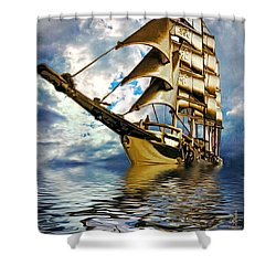My Ship Comes In Shower Curtain by Pennie  McCracken