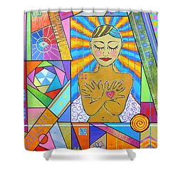 My Soul, I Carry Shower Curtain by Jeremy Aiyadurai
