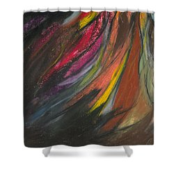 My Soul On Fire Shower Curtain by Ania M Milo