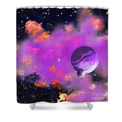 My Space Shower Curtain by Methune Hively