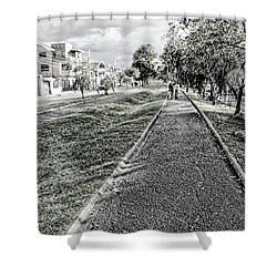 Shower Curtain featuring the photograph My Street II by Al Bourassa