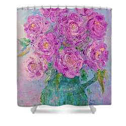 My Summer Roses Shower Curtain