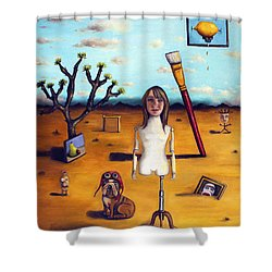 My Surreal Life Shower Curtain by Leah Saulnier The Painting Maniac