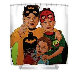 My Three Grandsons Shower Curtain