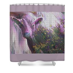 My Version Of Cow Shower Curtain