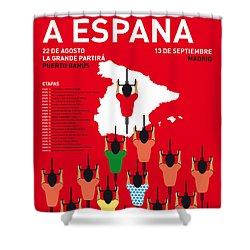 My Vuelta A Espana Minimal Poster Etapas 2015 Shower Curtain by Chungkong Art