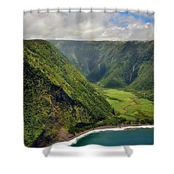 My Waterfall Valley  Shower Curtain