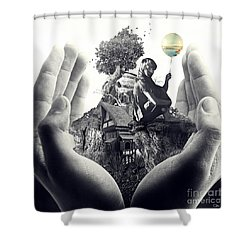 My Way Shower Curtain by Mo T
