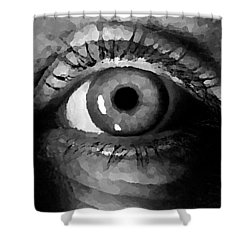 Shower Curtain featuring the digital art My Window In Bw by Shelli Fitzpatrick