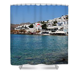 Mykonos Beach Shower Curtain