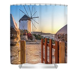 Mykonos, Greece Shower Curtain