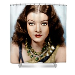 Shower Curtain featuring the photograph Myrna Loy by Granger