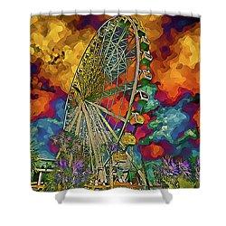 Myrtle Beach Skywheel Abstract Shower Curtain