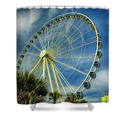 Myrtle Beach Skywheel Shower Curtain