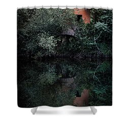 Shower Curtain featuring the photograph Myself In The Water by Edgar Laureano