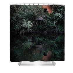 Myself In The Water Shower Curtain by Edgar Laureano