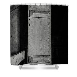 Mysterious Attic Door  Shower Curtain by Off The Beaten Path Photography - Andrew Alexander
