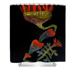Mysterious Shower Curtain by R Kyllo
