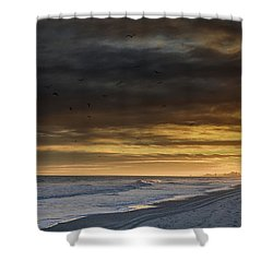 Mysterious Myrtle Beach Shower Curtain by Kelly Reber