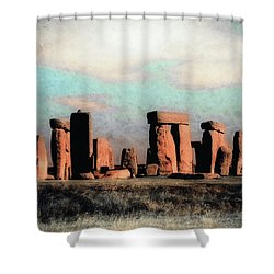 Mysterious Stonehenge Shower Curtain
