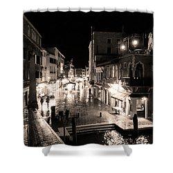 Mysterious Venice Monochrom Shower Curtain