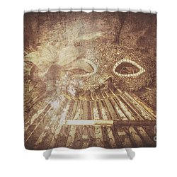 Shower Curtain featuring the photograph Mysterious Vintage Masquerade by Jorgo Photography - Wall Art Gallery