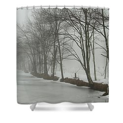 Mysterious Winter  Shower Curtain by Karol Livote