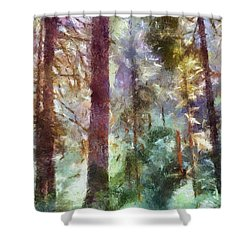 Mysterious Wood Shower Curtain