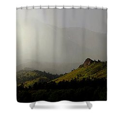 Shower Curtain featuring the photograph Mysteriously by Silke Brubaker