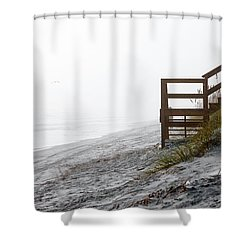 Shower Curtain featuring the photograph Mystery Beach by Anthony Baatz