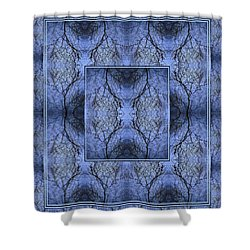 Mystery Blue Shower Curtain by Joy Nichols