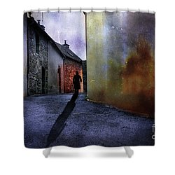 Mystery Corner Shower Curtain by Jim  Hatch