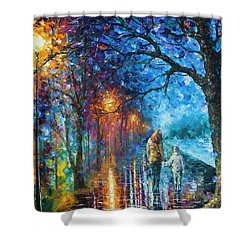 Mystery Of The Night Shower Curtain by Leonid Afremov