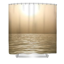 Mystery Sandstorm Sunset- The Red Sea Shower Curtain