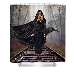Mystery Train Shower Curtain