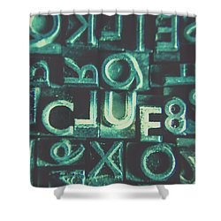 Shower Curtain featuring the photograph Mystery Writer Clue by Jorgo Photography - Wall Art Gallery