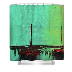 Mystic Bay Triptych 1 Of 3 Shower Curtain