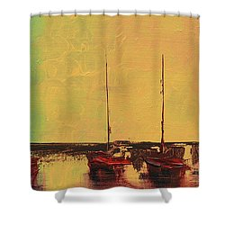 Mystic Bay Triptych 2 Of 3 Shower Curtain