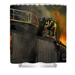 Mystic Fire Shower Curtain by Paul Walsh