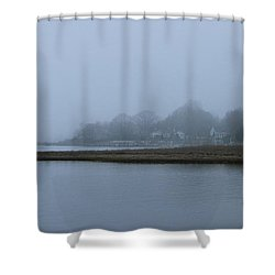 Mystic Fog Shower Curtain by Rick  Monyahan