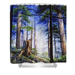 Mystic Forest Majesty Shower Curtain by Hanne Lore Koehler
