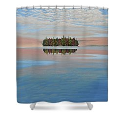 Shower Curtain featuring the painting Mystic Island by Kenneth M  Kirsch